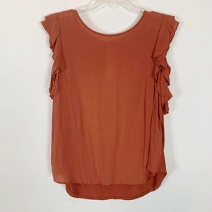 (4 for $25) A New Day Ladies Orange Sleeveless Top